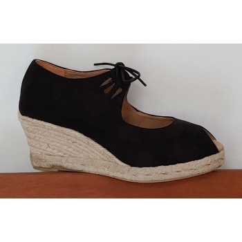 Black Esparto Shoe With Low...