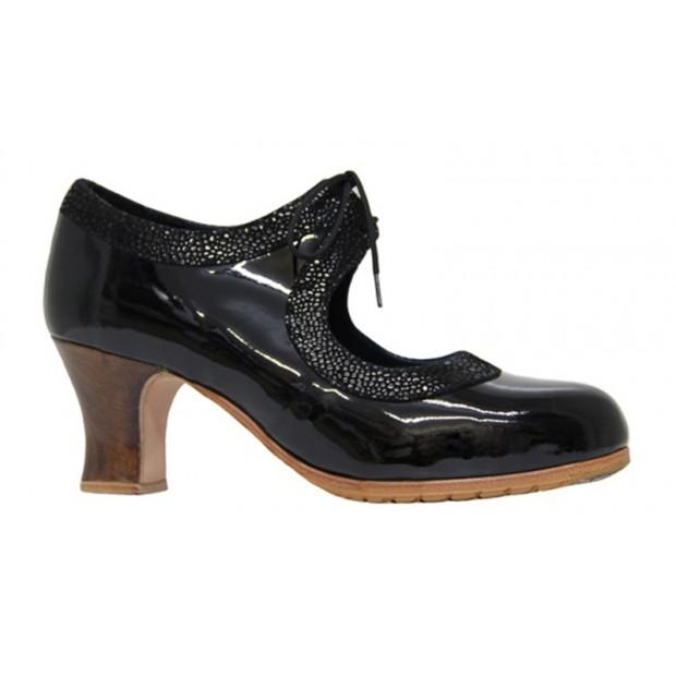Black patent leather...