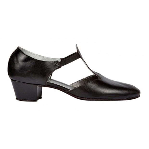 4 cm Chapín Black Leather...