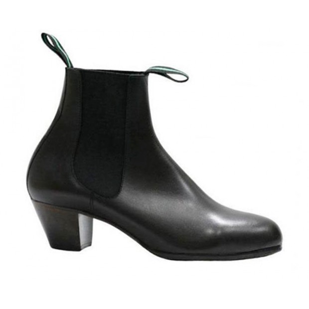 Black Leather Flamenco Boot...