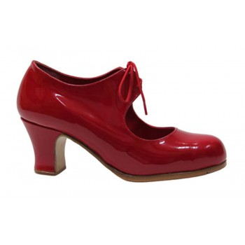 Red patent leather flamenco...