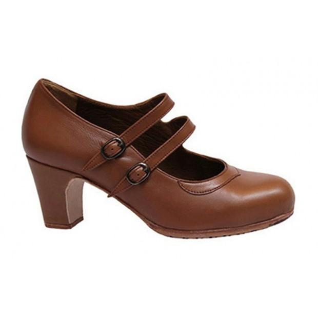 Brown leather flamenco...