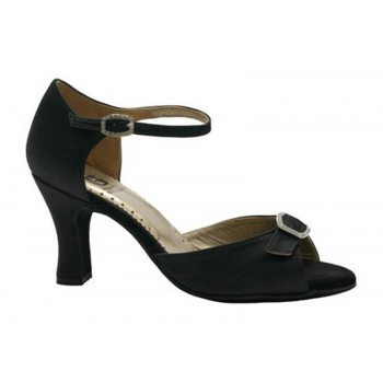 Black Satin Ballroom Shoe