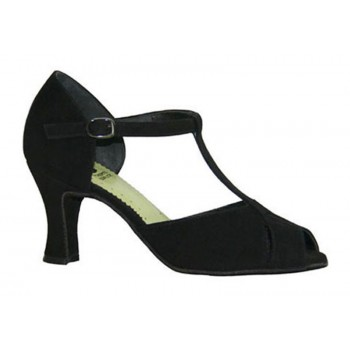 Chaussure de bal en daim noir