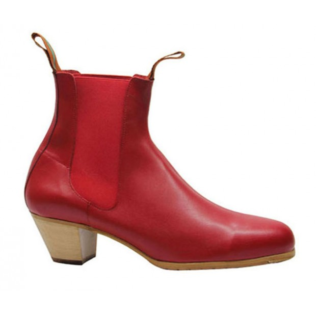 Red Leather Flamenco Boot...