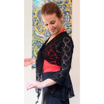 Lady Black Lace Cardigan...