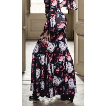 Jupe flamenco noire Mirabel...