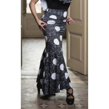 Jupe flamenco noire à pois...