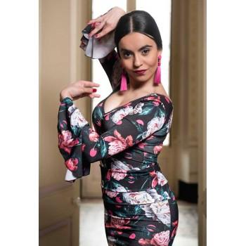 Body Flamenco Imprimé Fleur...
