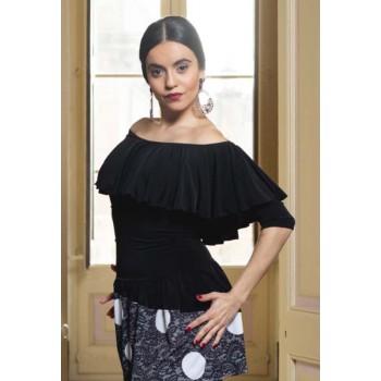 Agres Black Flamenco Top...