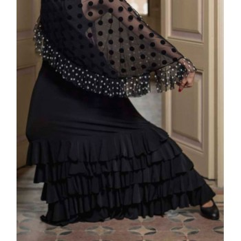 Black Monroy Flamenco Skirt...