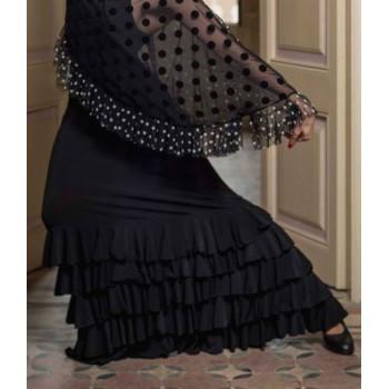 Black Monroy Flamenco Skirt...