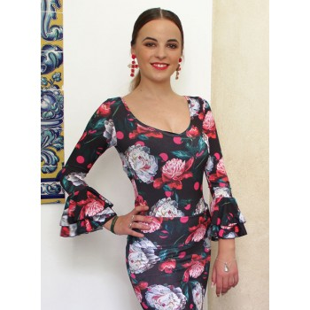 Top flamenco estampado...