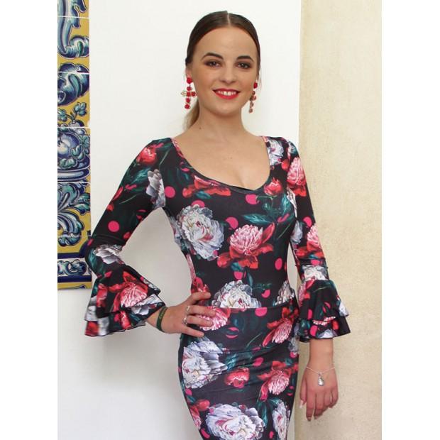 Top flamenco estampado...