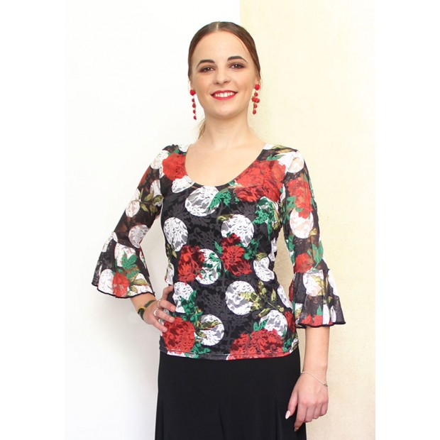 Flamenco Lace Lace Top with...