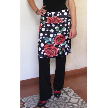 Black Skirt-Pants and Polka...