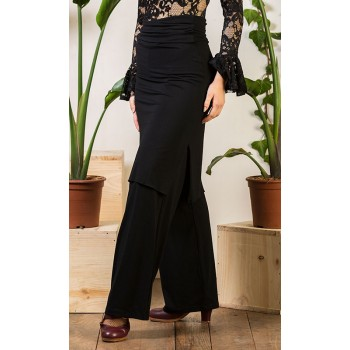 Black Stretch Knit Skirt-Pant