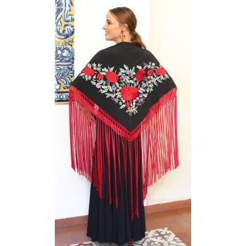 Black shawl hand...