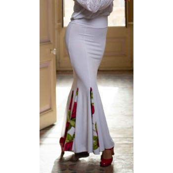 White Zug Flamenco Skirt...
