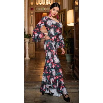 Murten Print Flamenco Dress