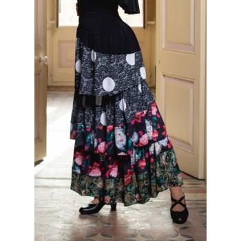 Jupe imprimée flamenco...