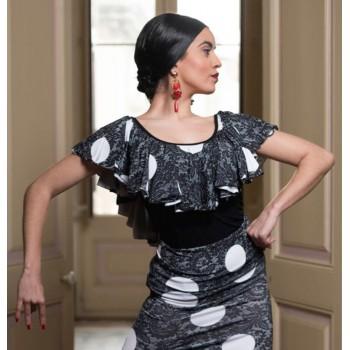 Haut de flamenco noir et...