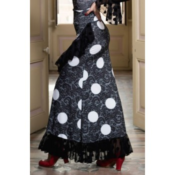 Black Sarnen Flamenco Skirt...