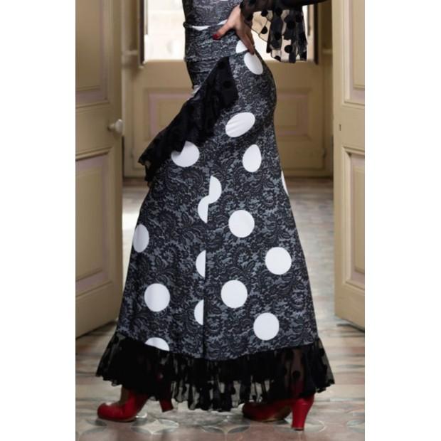 Black Sarnen Flamenco Skirt...