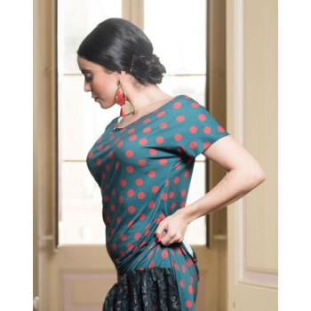 Top Flamenco Dix Verde con...