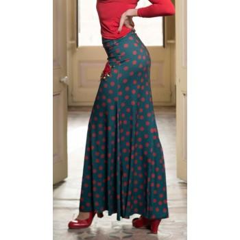 Jupe flamenco verte Emosson...