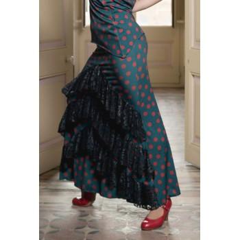 Jupe de flamenco verte...