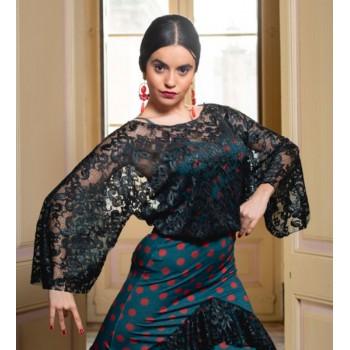 Top Flamenco Hongrin Encaje...