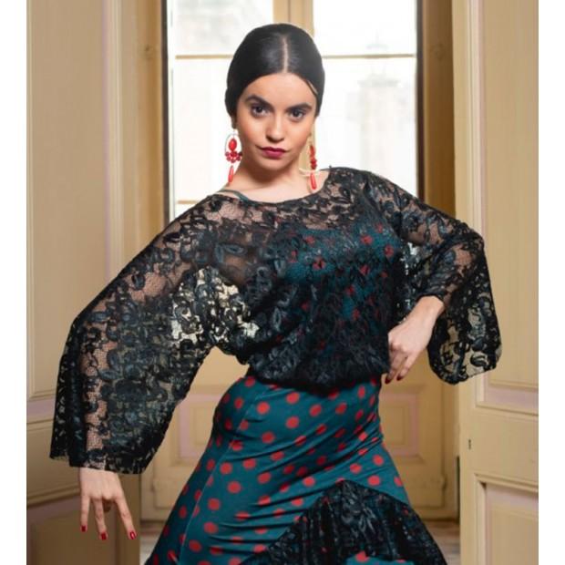 Flamenco Top Hongrin Black...