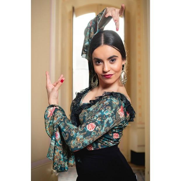 Luzzone Flamenco Print Top...