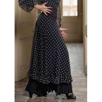 Vaccares Black Flamenco Skirt