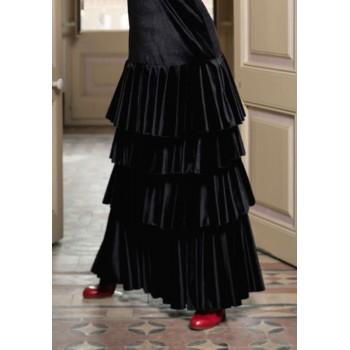 Jupe de flamenco en velours...