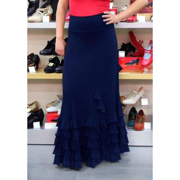Blue flamenco skirt with...