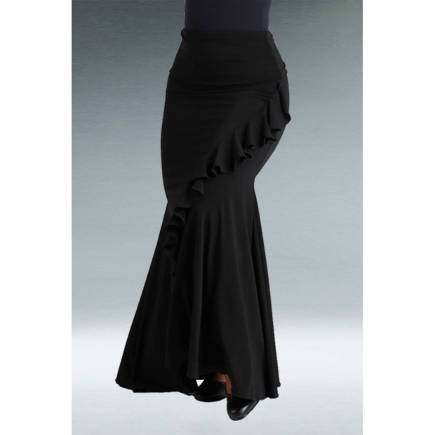 Jupe de flamenco noire à...