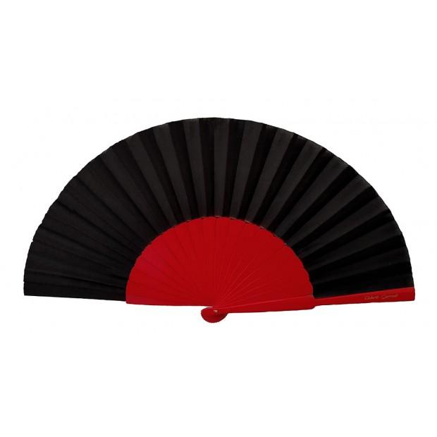 Grand éventail Rouge Noir...