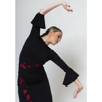 Top Flamenco Negro Con...