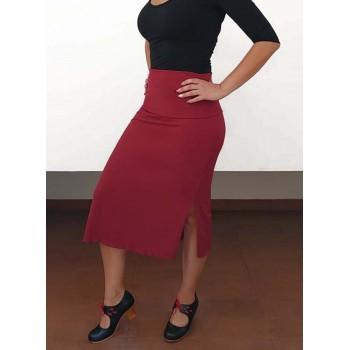 Short garnet skirt for...