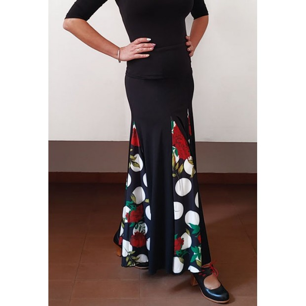 Falda Flamenco Negra y...