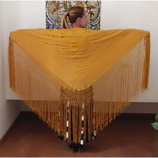Gold Color Shawl Hand...