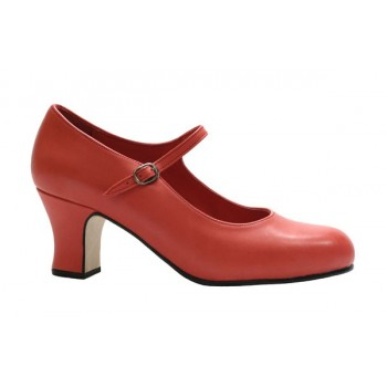 Flamenco Dance Shoes Semiprofesional Coral Leather