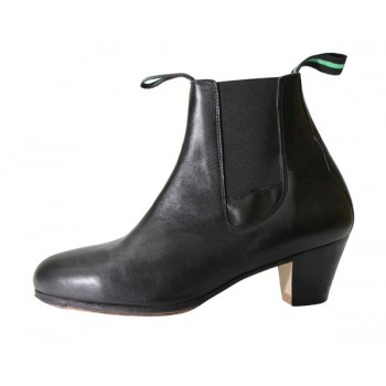 Black Leather Professional Dance Boot