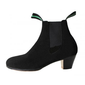 Professional Flamenco Boot Black Suede Leather