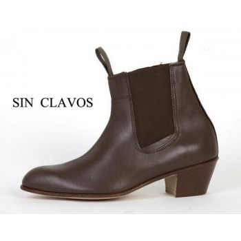 Cuban Brown Leather Heel...
