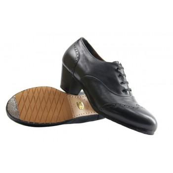 Black Leather Professional Shoe Pala Vega