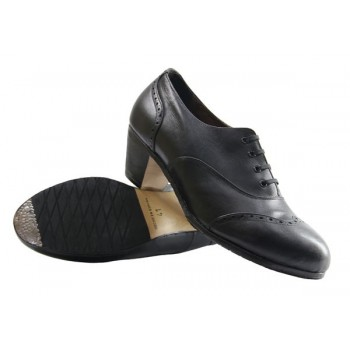 Flamenco Shoes Semiprofesional Black Leather Pala Vega