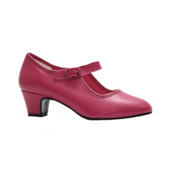 Fuchsia Leatherette Flamenco Shoe